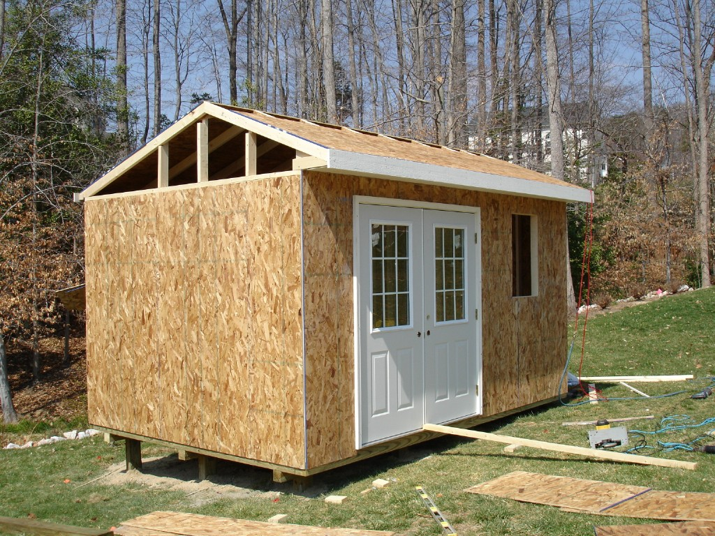 Affordable sheds building a shed onsite affordable for Affordable barns and garages